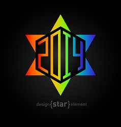 Star of david with new year date abstract design vector