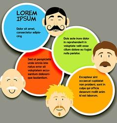 Mustache faces 2 vector