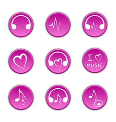 Music theme icons vector