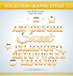 Sweet graphic styles for design use for decor text vector