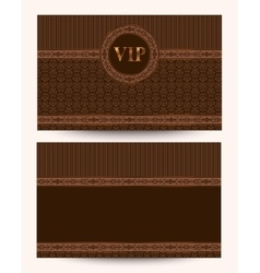 Luxury vip business card vector
