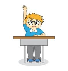 Child in school vector