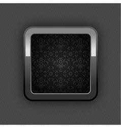 Chrome floral button vector