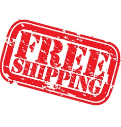 Free shipping stamp vector