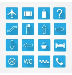 Airport icons - pictogram set vector