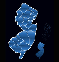Counties of new jersey vector
