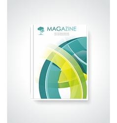 Magazine or brochure template design vector