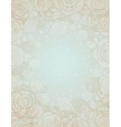 Beige background with roses vector
