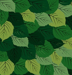Green leaves carpet vector