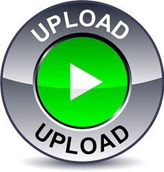 Upload round button vector
