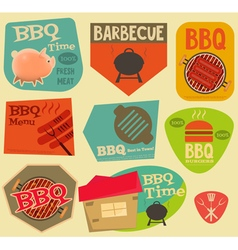 Barbecue stickers vector
