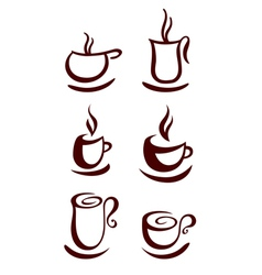 Cup of coffee or tea vector