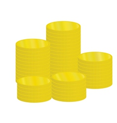 Piles of coins vector
