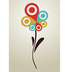 Gps mark conceptual flower vector