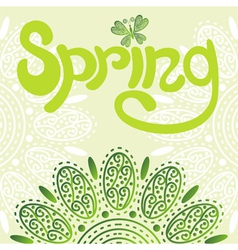 Nature pattern background spring vector