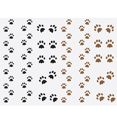 Dog prints vector
