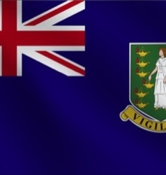 Virgin islands uk flag vector