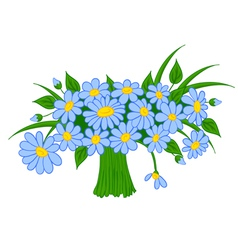 Animated cartoon bouquet of daisies vector