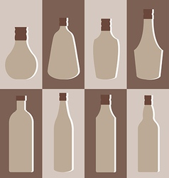 Set of alcohol bottle vector