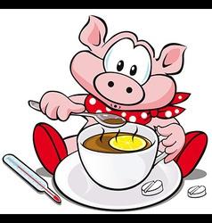 Swine flu cartoon vector