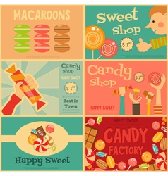 Sweet shop mini posters vector