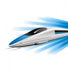 High-speed train on hovercraft vector