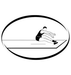 Athletics long jump vector