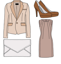 Female office clothes vector