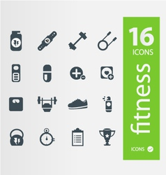 Fitness icons set of 16 quality icon vector