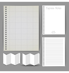 Paper document templates vector