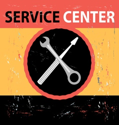 Service center retro vector