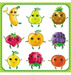Cartoon fruits vector