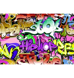 Graffiti wall seamless vector