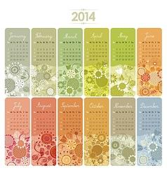 2014 calendar set vector