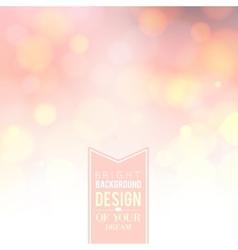 Pink bokeh background vector