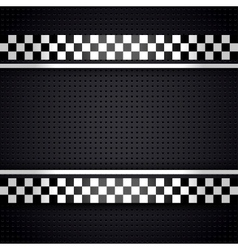 Structured metallic perforated for race sheet gray vector