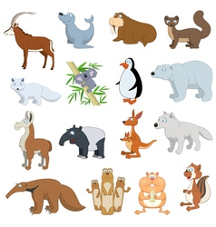 Various wildlife animals set vector