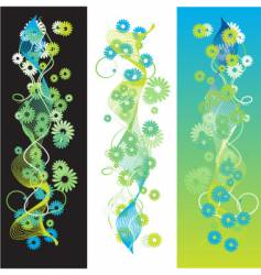 Bookmarks flower vector