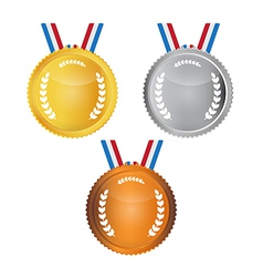 Medals set isolated on white background vector