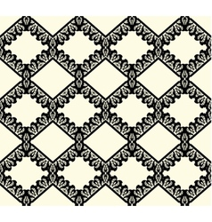 Black lace seamless pattern on white background vector
