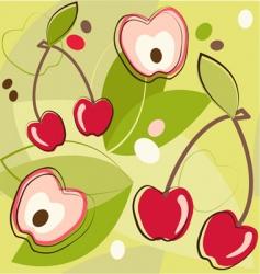 Cherries pattern vector