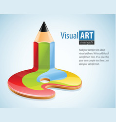 Pencil as symbol of visual art vector