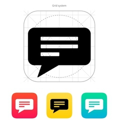 Text bubble icon vector
