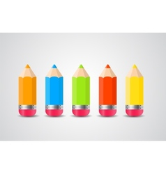 Pencils isolated on white background vector