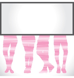 Bottom wear fashion with blank board vector