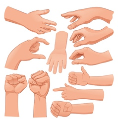 Set of several hands vector