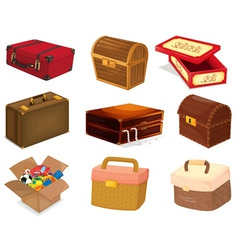 Bags and boxes vector