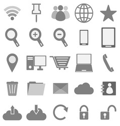 Internet icons on white background vector