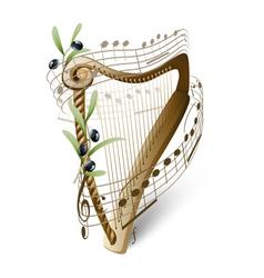 Harp of david vector