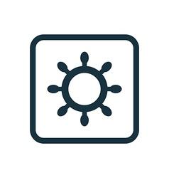 Ship wheel icon rounded squares button vector